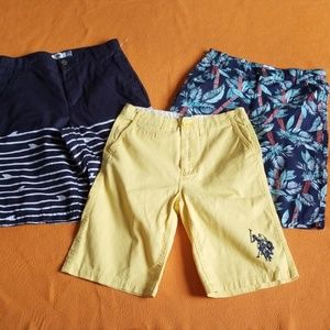 3 pc Lot Kids Youth Boy  Casual Shorts 14-16